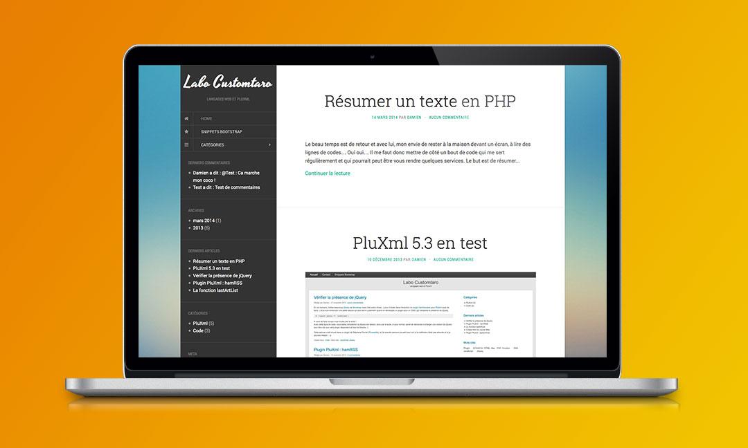 Formation Site Internet PluXML Narbonne Beziers Perpignan